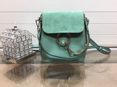 Chloe Faye Calfskin Leather Backpack 4756 Green