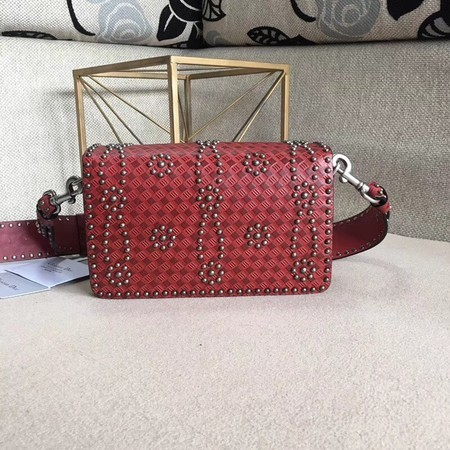 Dior Calfskin Leather Shoulder Bag M8000 Red