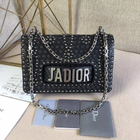 Dior Calfskin Leather Shoulder Bag M9000 Black