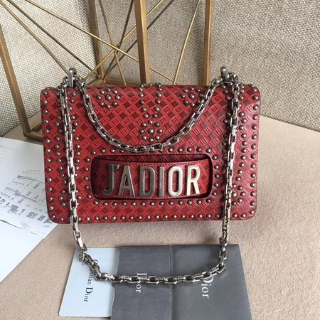 Dior Calfskin Leather Shoulder Bag M9000 Red