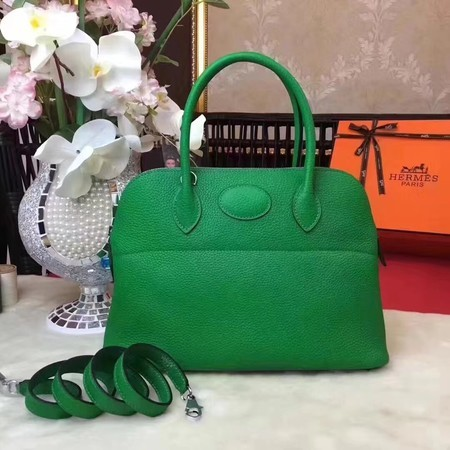 Hermes Bolide Original Leather Tote Bag B1007 Green