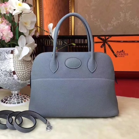 Hermes Bolide Original Leather Tote Bag B1007 Skyblue
