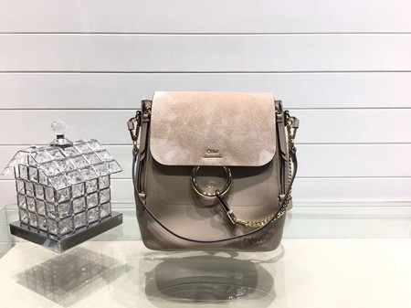 Chloe Mini Faye Backpack Calfskin C4756 Apricot