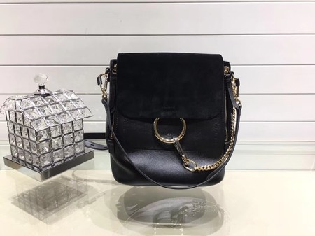 Chloe Mini Faye Backpack Calfskin C4756 Black