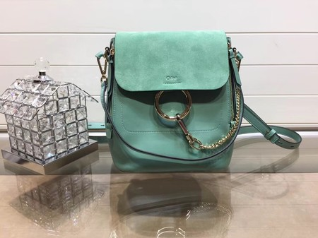Chloe Mini Faye Backpack Calfskin C4756 Green