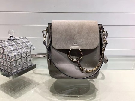 Chloe Mini Faye Backpack Calfskin C4756 Grey