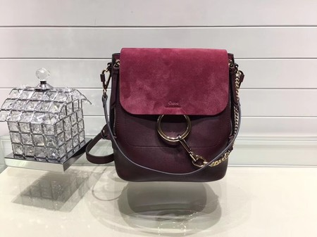 Chloe Mini Faye Backpack Calfskin C4756 Wine