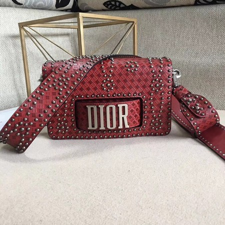 Dior JADIOR Flap Bag Calfskin M8000 Red