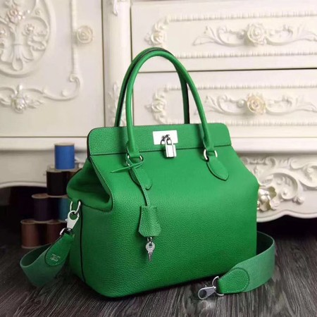 Hermes Toolbox Bag Original Togo Leather H3259 Green