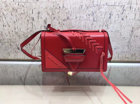 Loewe Barcelona Small Bag Calfskin Leather L9126 Red