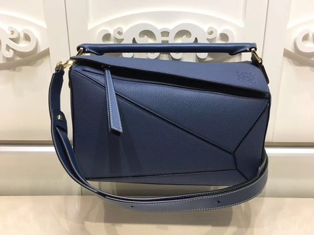 Loewe Puzzle Bag Orange Leather L9122 Blue