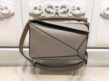 Loewe Puzzle Bag Orange Leather L9122 Light Grey