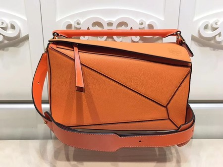 Loewe Puzzle Bag Orange Leather L9122 Orange