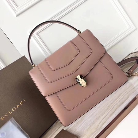 BVLGARI Original Calfskin Leather Tote Bag 3782 Pink