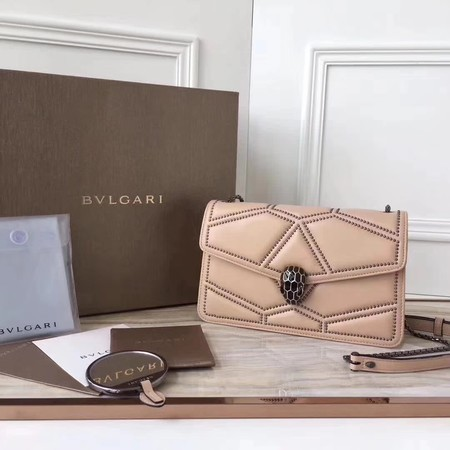 BVLGARI Quilted Stardust Original Calfskin Leather 3786 Camel