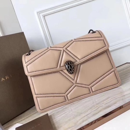 BVLGARI Quilted Stardust Original Calfskin Leather 3787 Camel