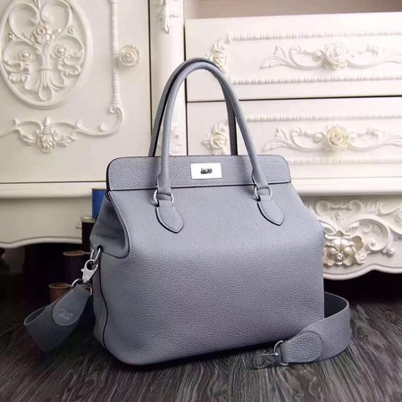 Hermes Toolbox Togo Bag Original Leather 3259 Light Blue