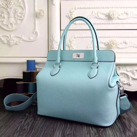 Hermes Toolbox Togo Bag Original Leather 3259 Skyblue
