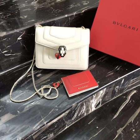 BVLGARI Forever Serpenti In Love Shoulder Bag Calfskin Leather BG90031 Offwhite