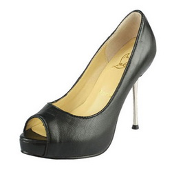 Christian Louboutin 80mm Kitten Heels Lambskin Pump Black
