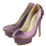 Charlotte Olympia Paloma Satin Pumps Purple