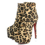 Christian Louboutin Leopard Daffidole Ankle Boots