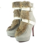 Christian Louboutin Toundra Cony Hair Trimmed Bootie