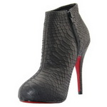 Christian Louboutin Belle Python Print Ankle Boots Black