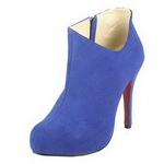 Christian Louboutin Lisse 100mm Suede Ankle Boots Blue