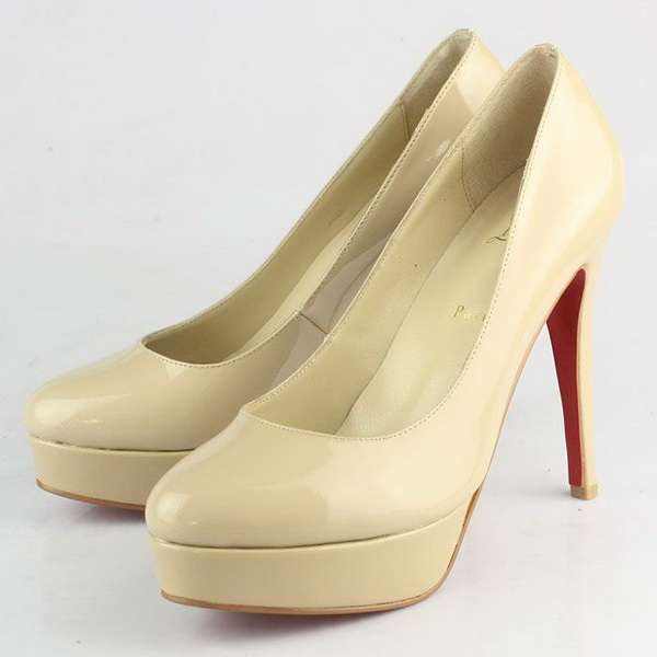 Christian Louboutin Patent Leather Platform Pump CL9774 Apricot