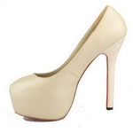 Christian Louboutin sheepskin daffodile Red Sole pumps apricot