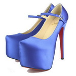 Christian Louboutin Daffodile Satin Pumps Blue