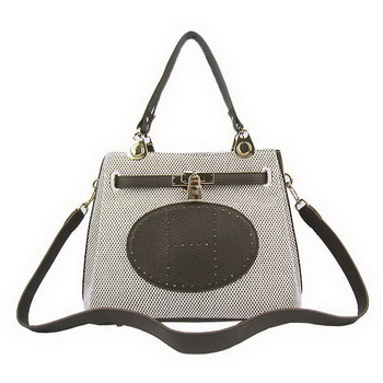 Hermes Mini So Kelly 30CM Bag Brown Canvas H60668 Gold