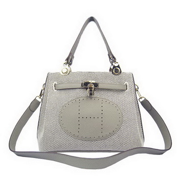 Hermes Mini So Kelly 30CM Bag Grey Canvas H60668 Gold