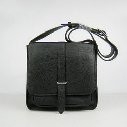 Hermes Black Cow Leather Messenger Bags H2811