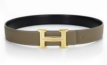 Hermes Belts Original Leather Diamond Golden Khaki