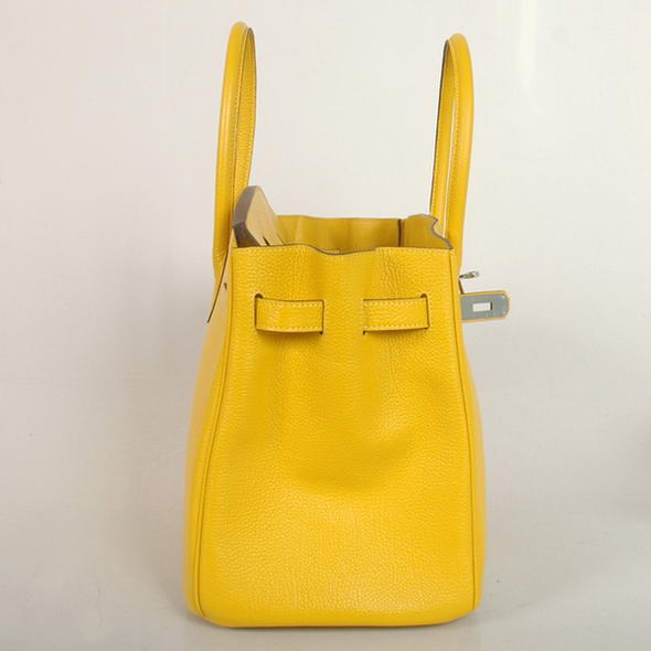 843bb159041 Hermes Birkin 35CM Tote Bags Smooth Togo Leather Turkey Yellow Silver