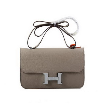 Hermes Constance Bag Togo Leather 1622L Light Khaki Silver