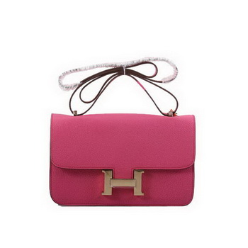 Hermes Constance Bag Plum Togo Leather 1622L Golden