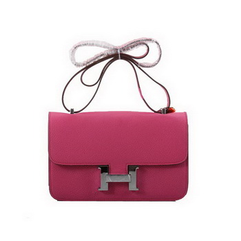 Hermes Constance Bag Togo Leather 1622L Plum Silver