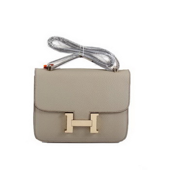 Hermes Togo Leather Constance Bag 1622S Light Khaki Golden