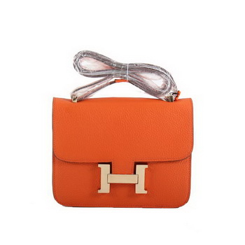 Hermes Constance Bag Orange Togo Leather 1622S Golden