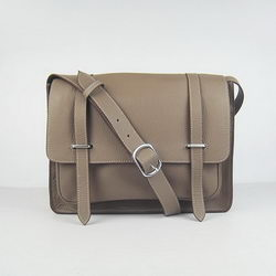 Hermes Jypsiere Togo Leather Messenger Bag H2810 Khaki