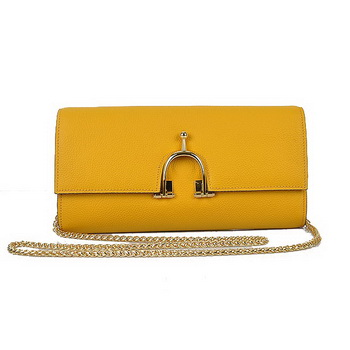 Hermes 2012 Smooth Calf Leather Shoulder Bag Yellow
