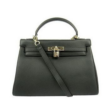 Hermes Kelly 32cm Bags Togo Leather 6108 Black Golden