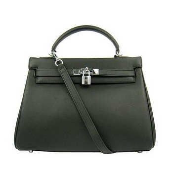 Hermes Kelly 32cm Bags Togo Leather 6108 Black Silver