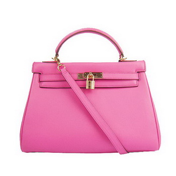 Hermes Kelly 32cm Bags Togo Leather 6108 Fuchsia Golden