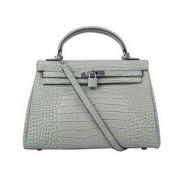 Hermes Kelly 32cm Bags Togo Leather 6108 Grey Silver