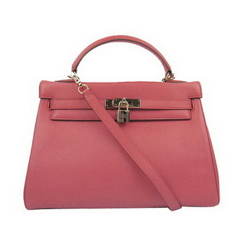 Hermes Kelly 32cm Bags Togo Leather 6108 Light Red Golden