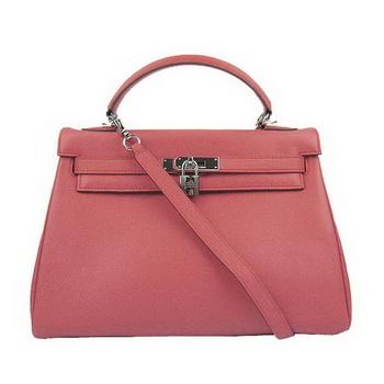 Hermes Kelly 32cm Bags Togo Leather 6108 Light Red Silver